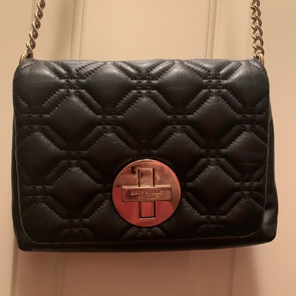 kate spade Handbags - Kate Spade quilted black leather crossbody purse